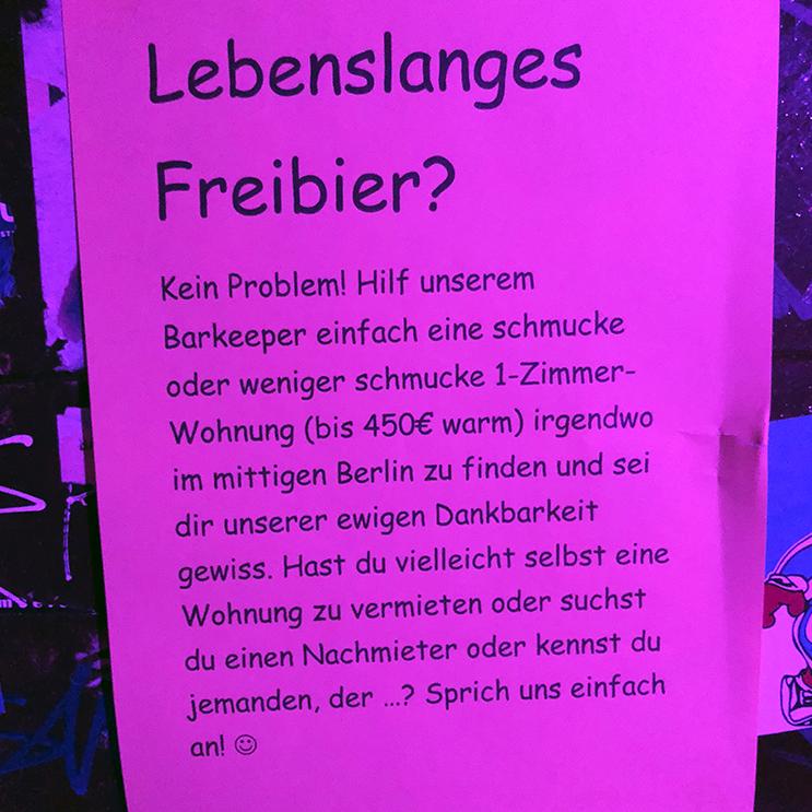 Wohnungssuche in Berlin Zettel